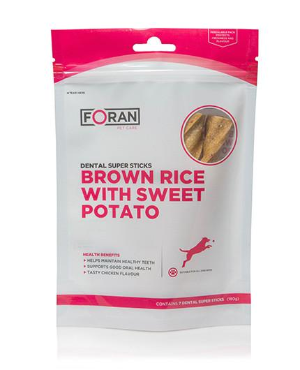 Foran Pet Care Dental Super Sticks | Brown Rice & Sweet Potato - RedMillsStore.ie
