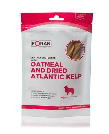 Foran Pet Care Dental Super Sticks | Oatmeal & Dried Atlantic Kelp - RedMillsStore.ie