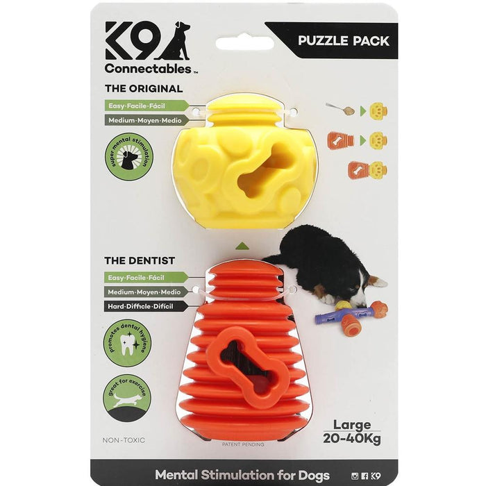 K9 Connectables Large Puzzle Pack - Orange & Yellow