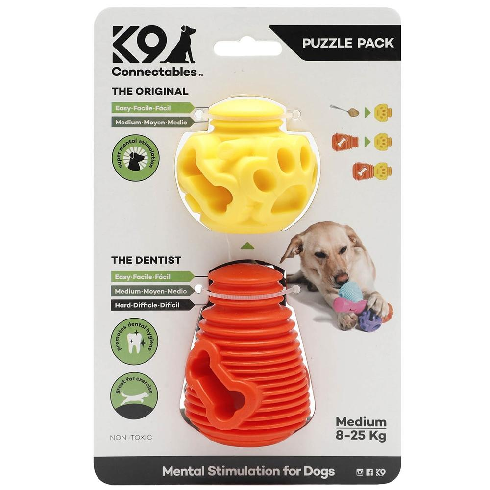 K9 Connectables Medium Puzzle Pack - Orange & Yellow