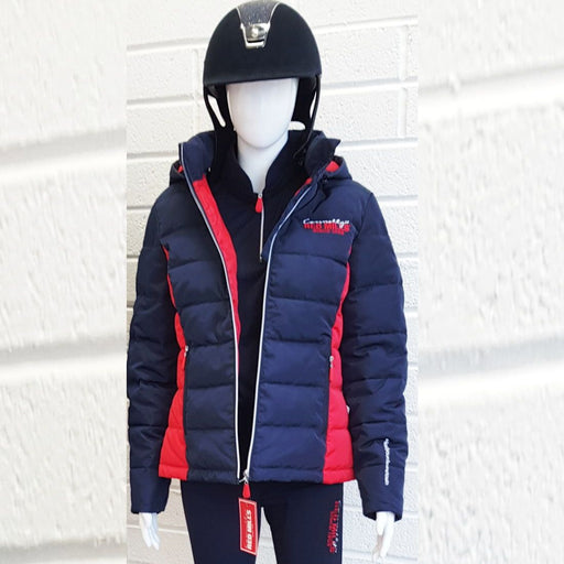 RED MILLS womens padded jacket with detachable hood - RedMillsStore.ie
