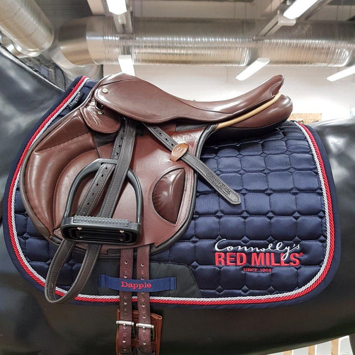 RED MILLS X Dapple Saddle Pad navy with red piping - RedMillsStore.ie