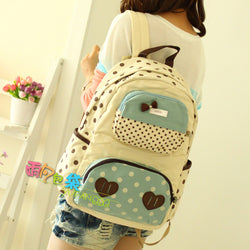 New Arrival High Quality Women Canvas Backpack - Preppy Style