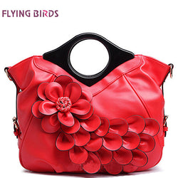 Women handbag elegant women leather handbags retro bride wedding tote bolsas brands flower embossed bag