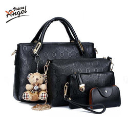 Famous Brand Women Bag Top-Handle Bags 2017 Fashion Women Messenger Bags Handbag Set PU Leather Composite Bag TNT60