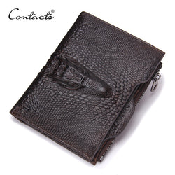 Genuine Leather Men Wallets Famous Brands Alligator Mens Wallet Male Money Purses Coins Wallets With ID Card Holder