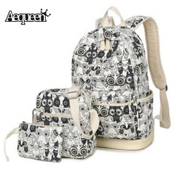 Backpack Canvas Women Travel Backpacks School Bags For Teenagers Girls Fashion College Student Bookbags Bag