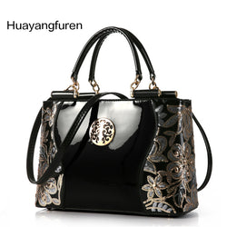 Luxury Fashion Patent Leather Women Totes Handbag
