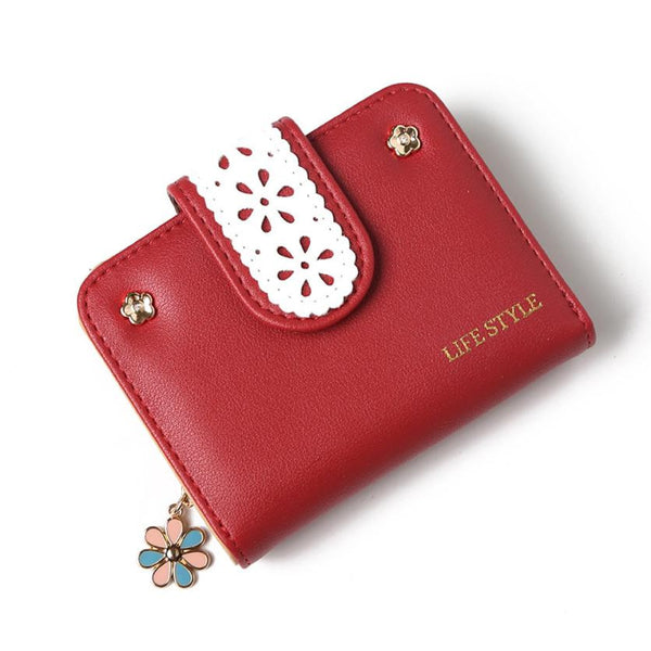 Elegant Women Leather Wallet - Japan and Korean Style