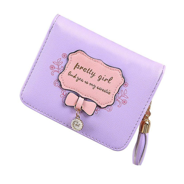 New Fashion Women PU Leather Short Wallet - Japan and Korean Style