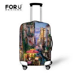Protective Covers for Suitcase Travel Waterproof Luggage Cover Elastic Stretch to 18''-30'' Case Landscape Covers
