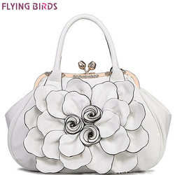 Designer women handbag 3D flower high quality leather tote bag female large shoulder bag messenger bags