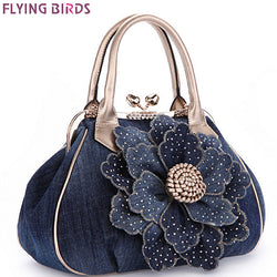 Designer women handbag vintage flower women's tote women messenger bags ladies purse shoulder bag