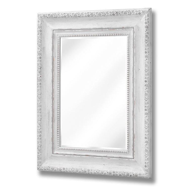 Antique White Rose Wall Mirror (PRE-ORDER)