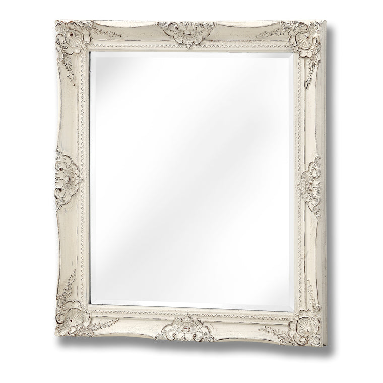Antique White French Vintage Style Mirror (PRE-ORDER)