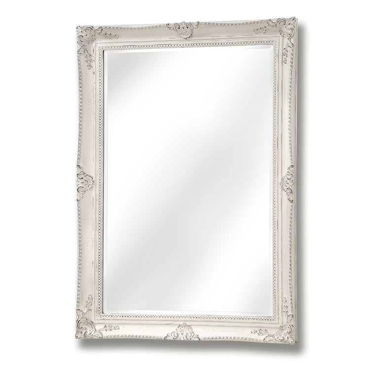 White Antique French Vintage Style Mirror (PRE-ORDER)