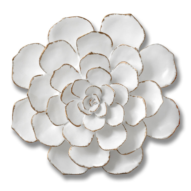 Large Decorative Wall Art Flower In White