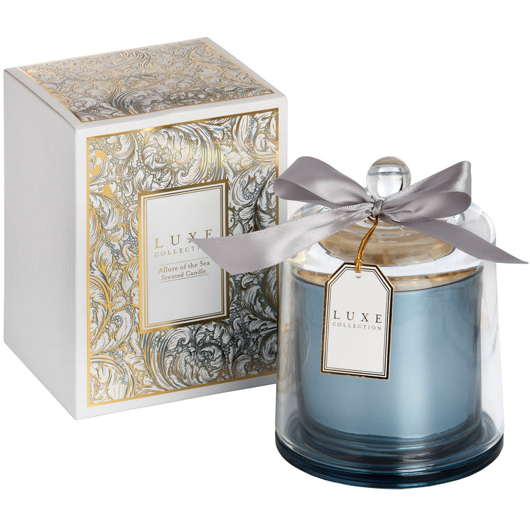 Allure Of The Sea Large Candle With Cloche By LUXE Collection