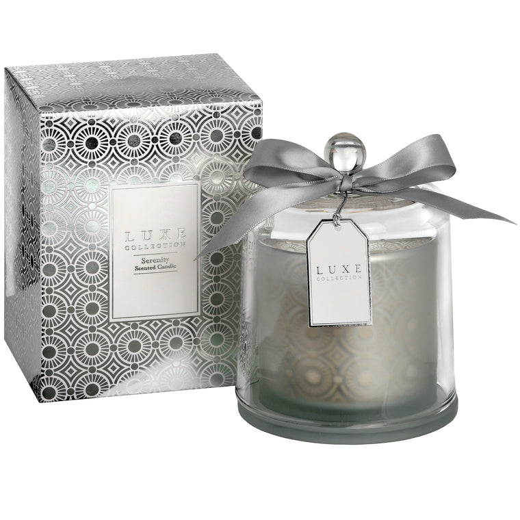 Serenity Large Candle With Cloche By LUXE Collection