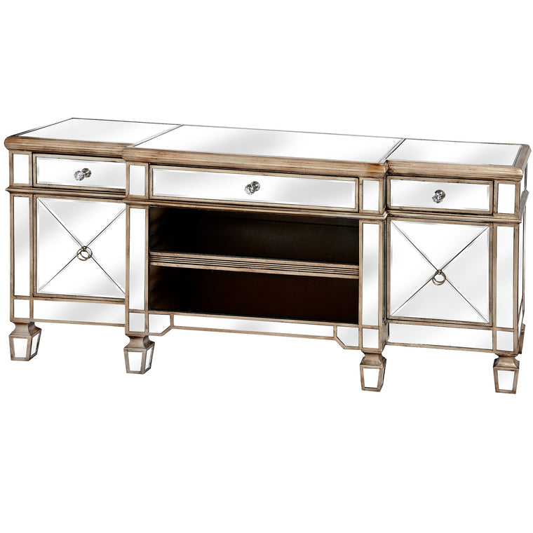 The Belfry Collection Mirrored Media Unit (PRE-ORDER)