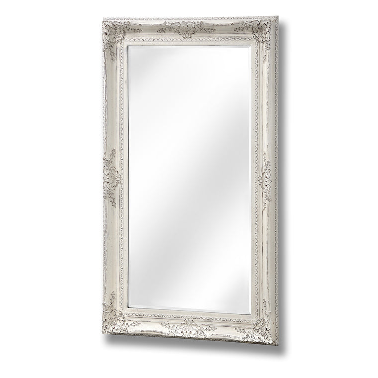 Large Baroque Antique White Mirror (PRE-ORDER)