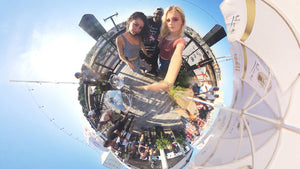FusionLens 360 tiny planet mode. Create 360 panorama with dual lens on iPhone
