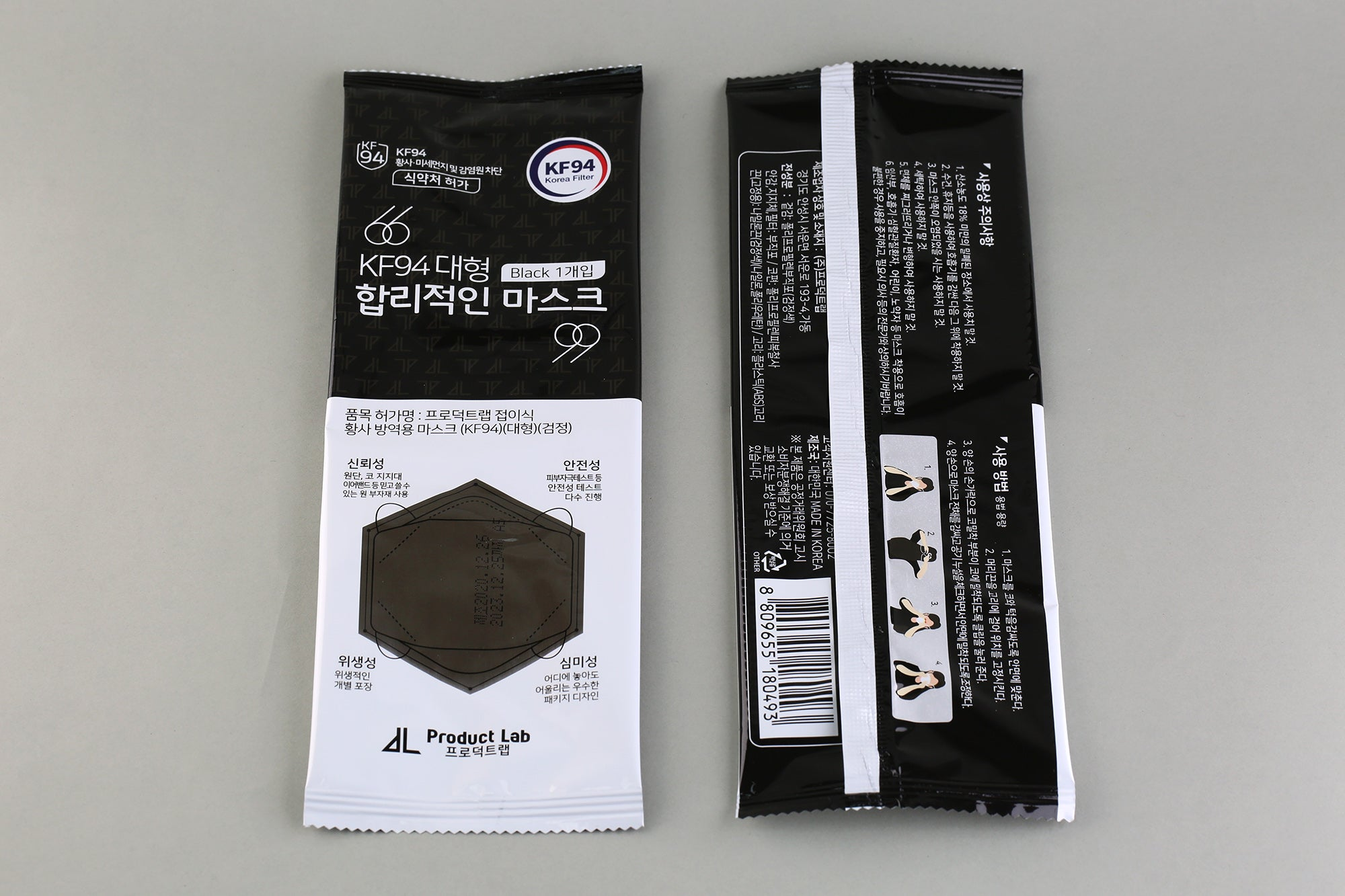 Product Lab Black KF94 20pcs【Made in Korea】
