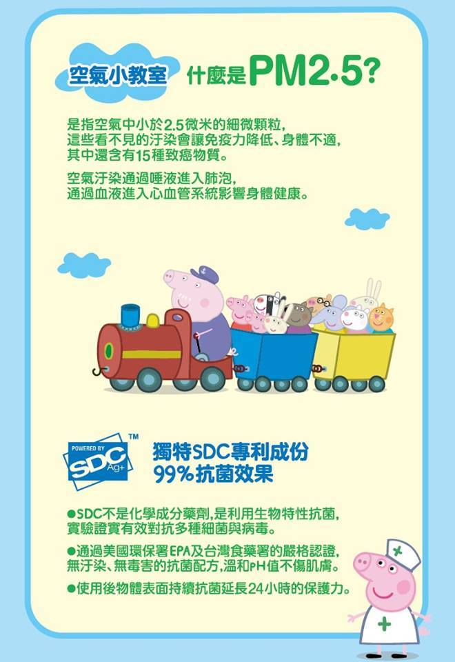 【Made in Taiwan】Peppa Pig SDC™ 3D for Kid (120 pcs)
