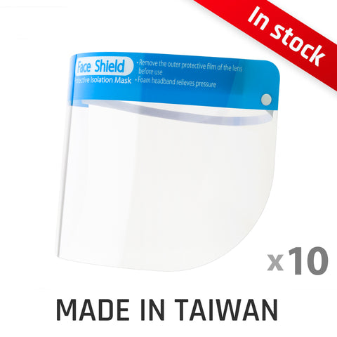 10 packs of Disposable Splash Face Shield W01 【Made in Taiwan】