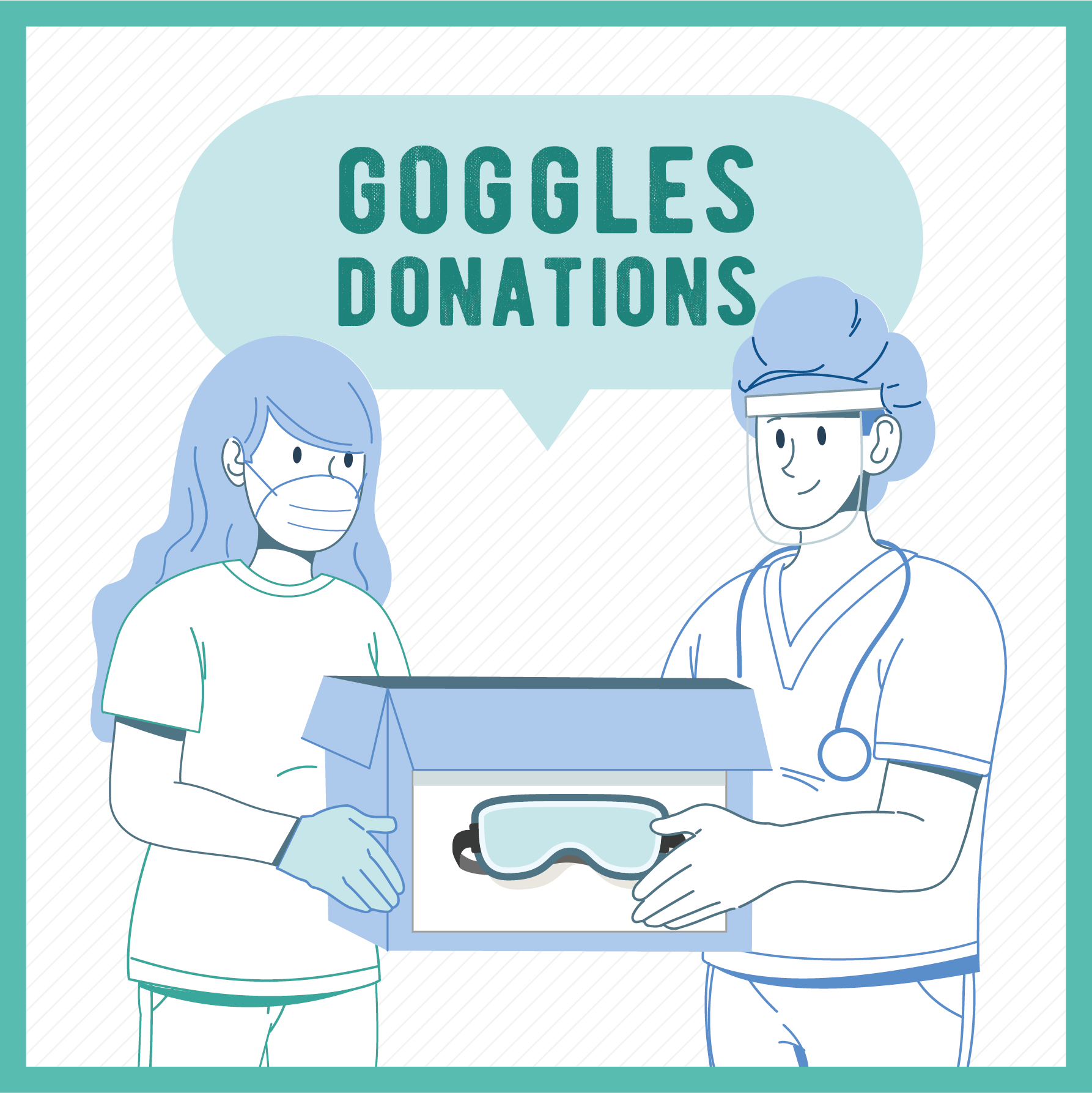 Goggles Donation To Our Medic Heros - Together ! We're STRONG