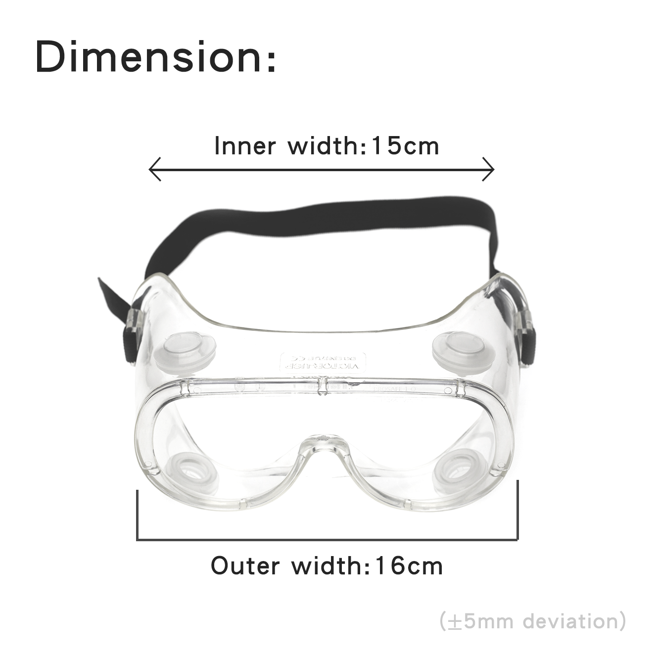 Protective Splash Anti-Fog Goggles F01【 Made in Taiwan 】