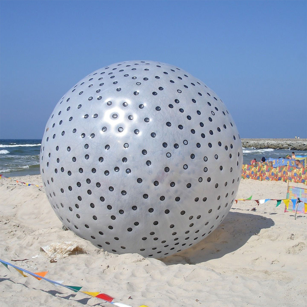 Black Dot Human Zorbing Ball for Beach Party