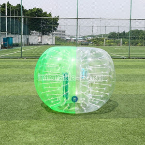 Free Shipping 1.5m Inflatable Zone Half Green Bubble Soccer Ball Cost