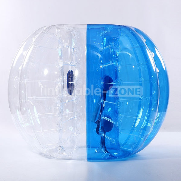 Free Shipping,5 Blue.5 Red 1.5m dia PVC Bubble Ball For Team Play,1 Free Pump