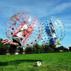 Free Shipping,5 Blue Dot, 5 Red Dot 1.5m dia PVC Bubble Soccer For Team Play,1 Free Pump