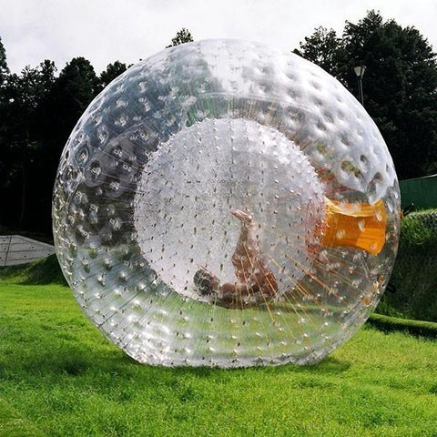 Beautiful Orange Entrance String Zorbing ball