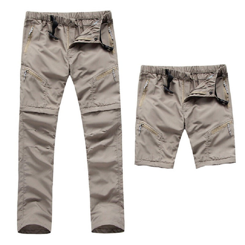 Men's Mountainskin Featherlite Quick Dry Convertible Summer Hiking Pants and Shorts