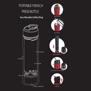 Camping / Hiking Travel Portable French Press Coffee Maker