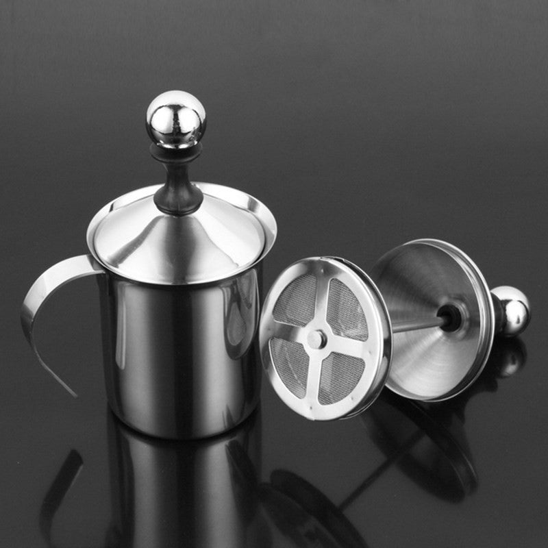 Manual Milk Frother Coffee Pump