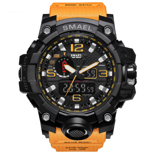 Smael Men's Military Watch - 50m Waterproof