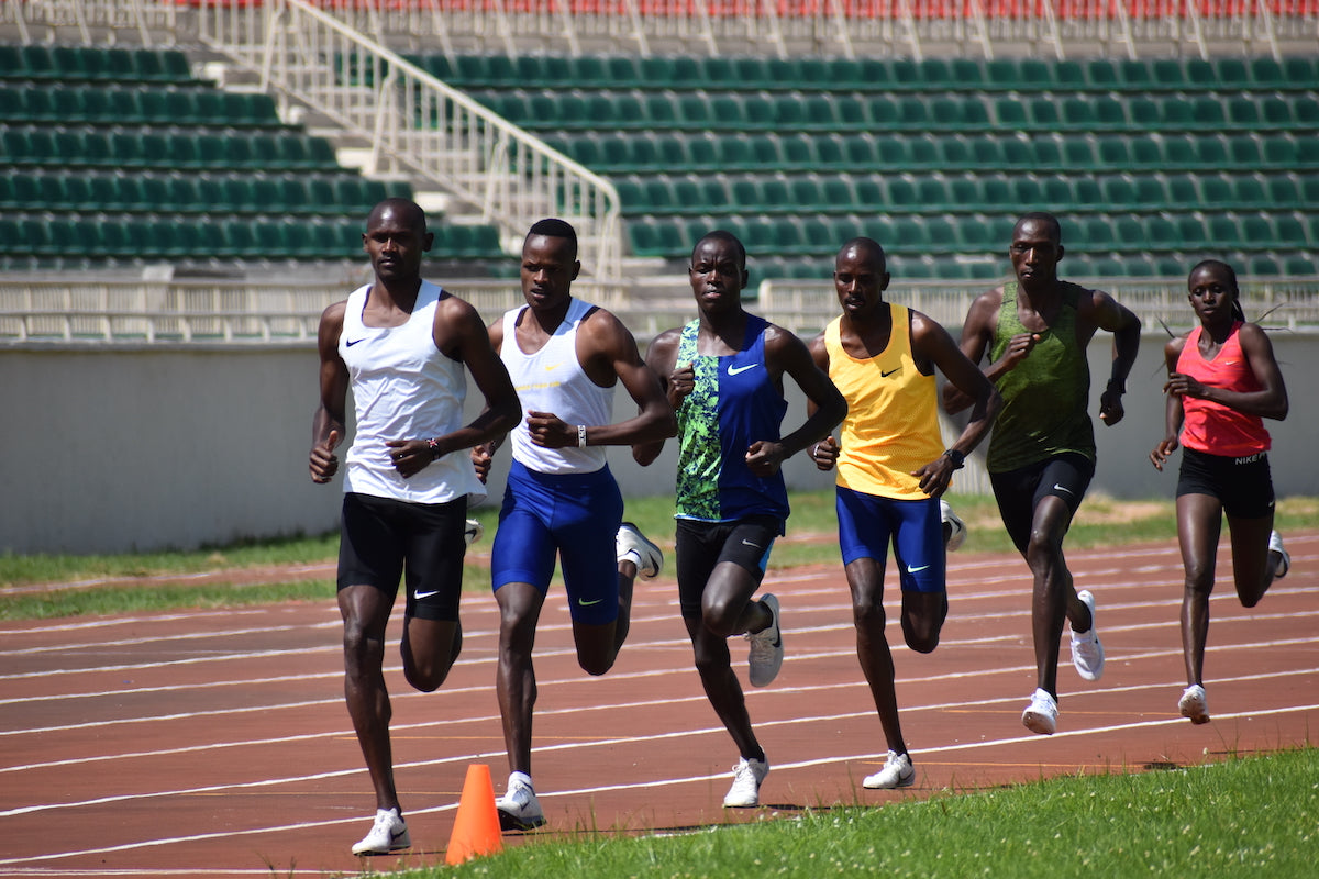 Timothy Cheruiyot training at Nyayo Stadium. Credit: Michelle Katami