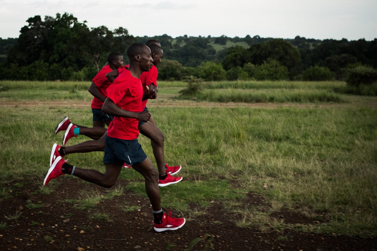 Some of the Athletes under the Run with a Kenyan program
