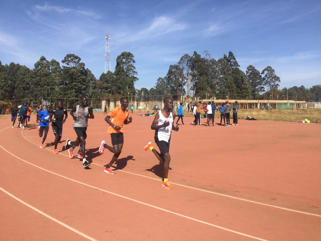 A session at Kipchoge Keino Stadium in Eldoret. Photo by Justin Lagat