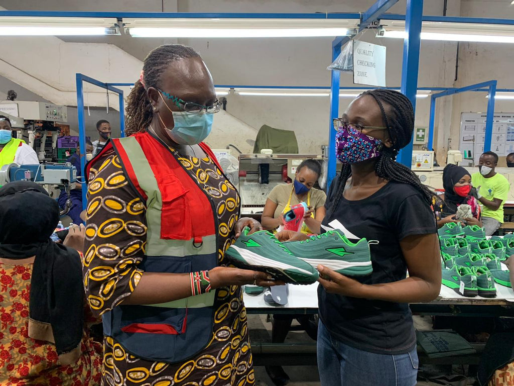 Betty Maina visits Enda factory