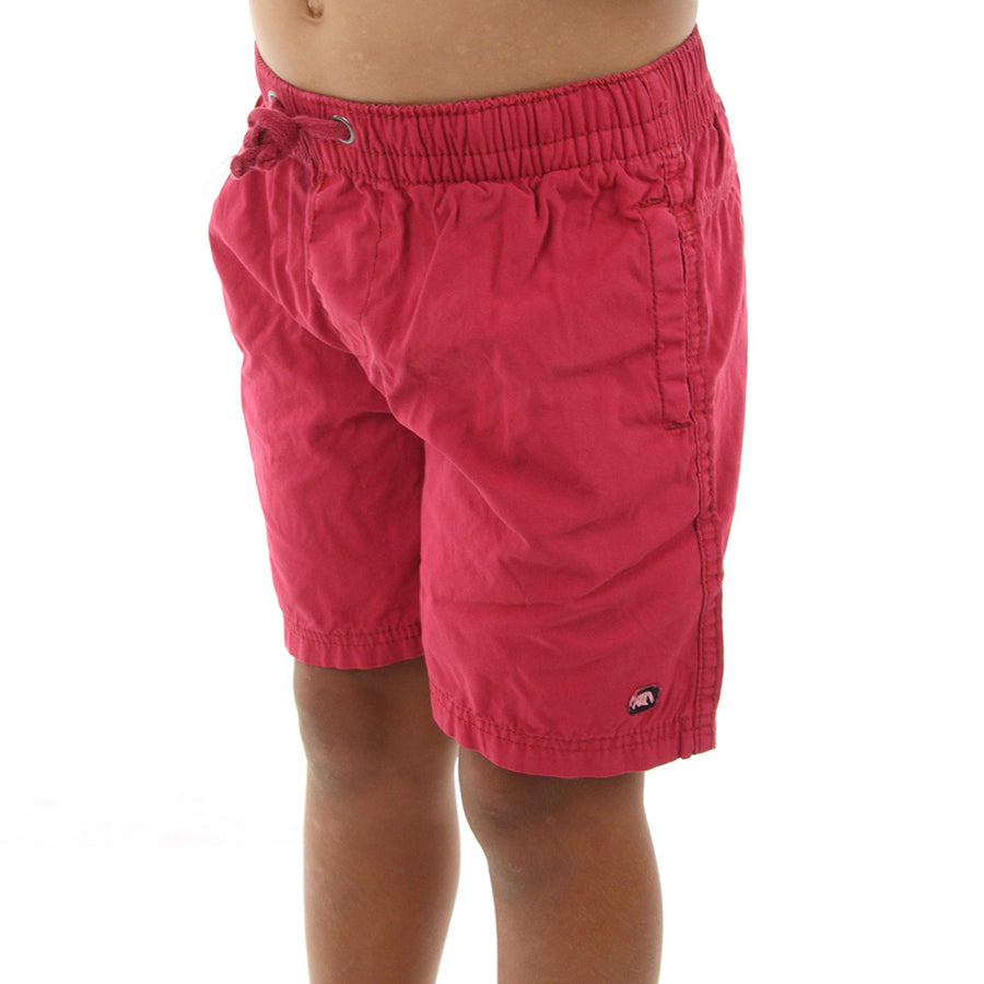 Vivid Pull On Boy's Shorts/Red