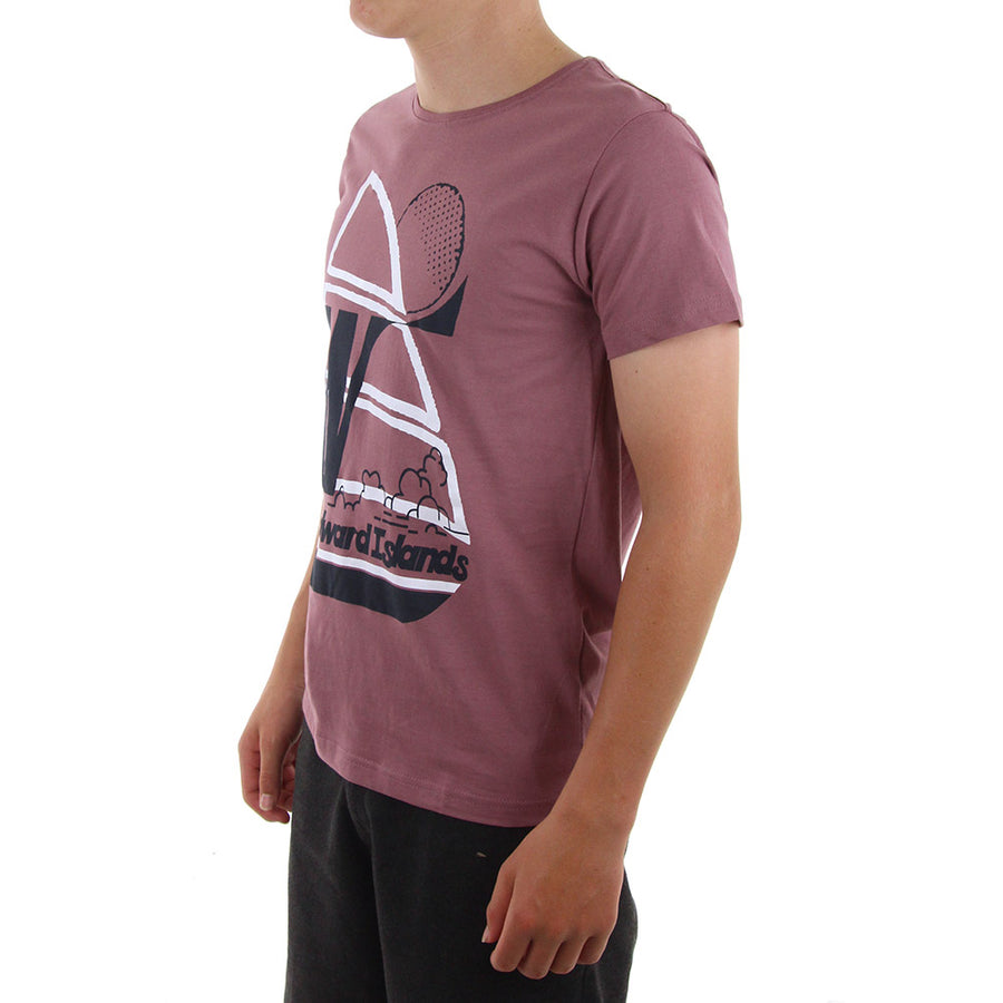 Windward Boy's Tee/Dusky Pink