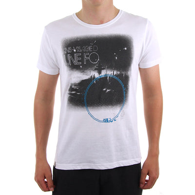 Faceless In The Crowds Boy's Tee/White/Black