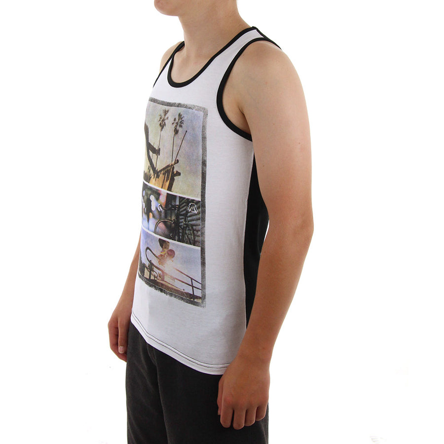 Free Rider Boy's Tank/White/Black