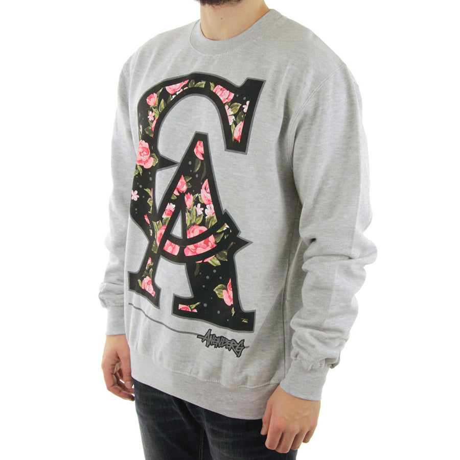 CA Floral Crew/Heather Grey