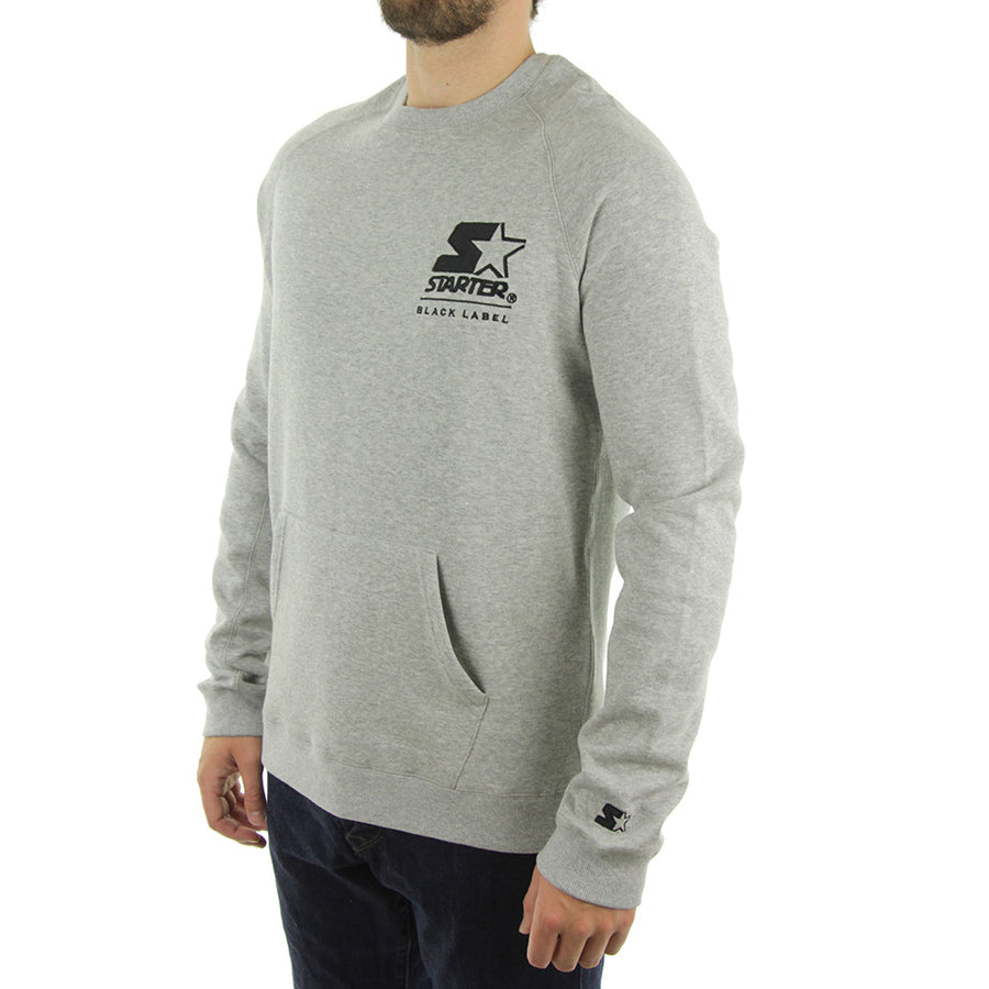 Springfield Tech Fleece Embroided Crew/Heather Grey